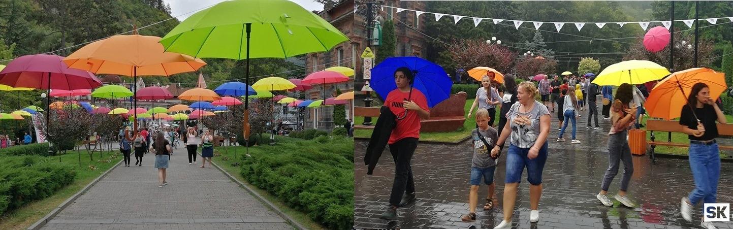 Photo of ბორჯომობაზე გამოფენილი ფერადი ქოლგები ხალხმა დაიტაცა …