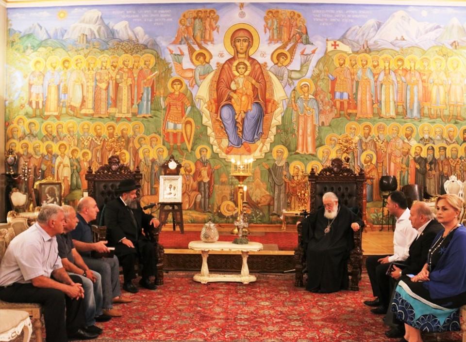 Photo of სრულიად საქართველოს კათოლიკოს-პატრიარქი მსოფლიოს ქართველ ებრაელთა მთავარ რაბინს შეხვდა