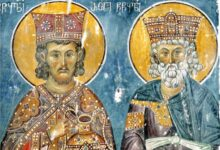 Photo of ორი ერის წინამძღოლის ერთობლივი ფრესკა იერუსალიმის ჯვრის მონასტერზე